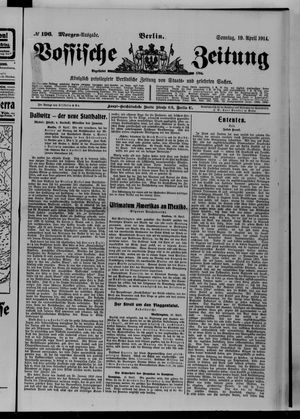 Vossische Zeitung vom 19.04.1914