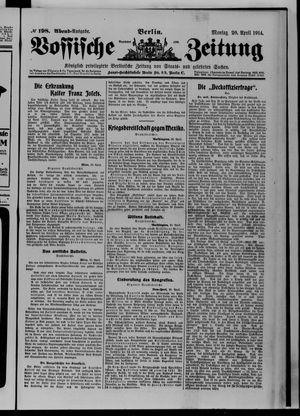 Vossische Zeitung vom 20.04.1914