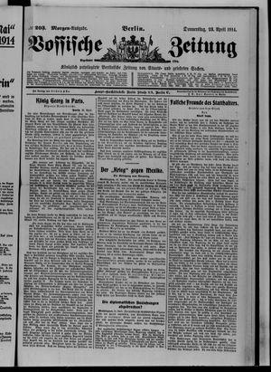 Vossische Zeitung vom 23.04.1914