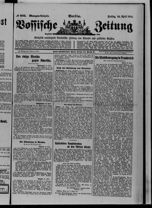 Vossische Zeitung vom 24.04.1914
