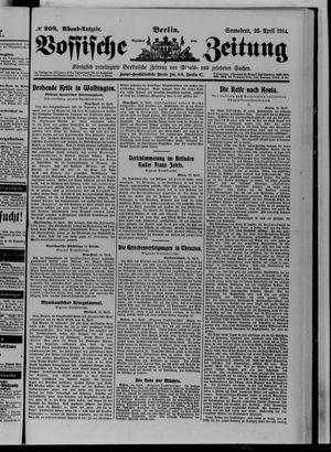 Vossische Zeitung vom 25.04.1914