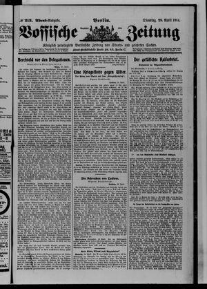 Vossische Zeitung vom 28.04.1914