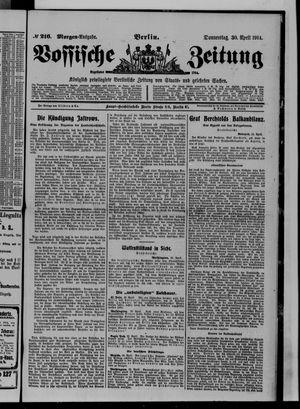 Vossische Zeitung on Apr 30, 1914