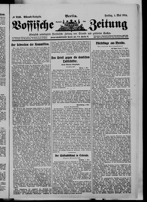 Vossische Zeitung vom 01.05.1914
