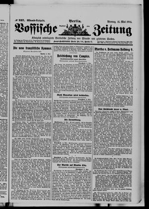 Vossische Zeitung vom 11.05.1914