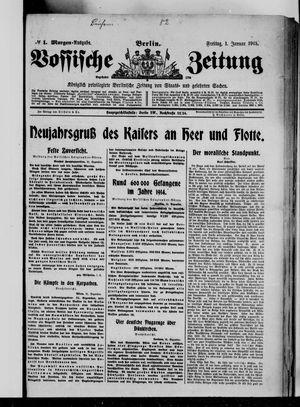 Vossische Zeitung vom 01.01.1915