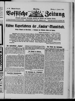 Vossische Zeitung vom 04.01.1915