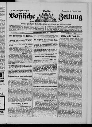 Vossische Zeitung vom 07.01.1915