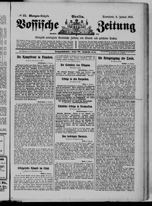 Vossische Zeitung on Jan 9, 1915
