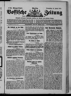 Vossische Zeitung vom 14.01.1915
