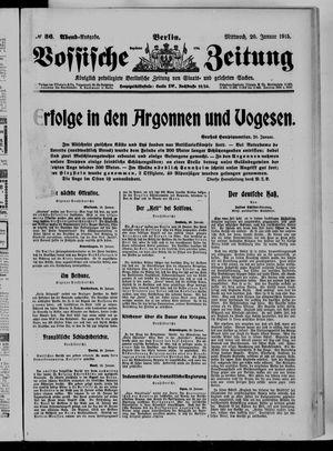 Vossische Zeitung vom 20.01.1915