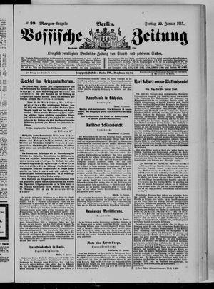 Vossische Zeitung vom 22.01.1915