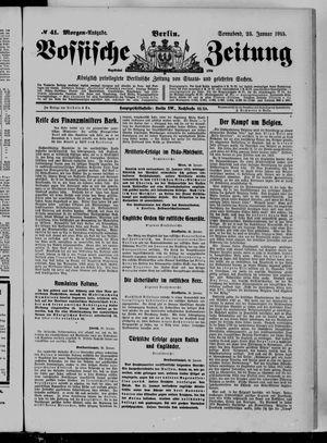 Vossische Zeitung on Jan 23, 1915
