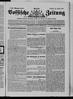 Vossische Zeitung vom 24.01.1915