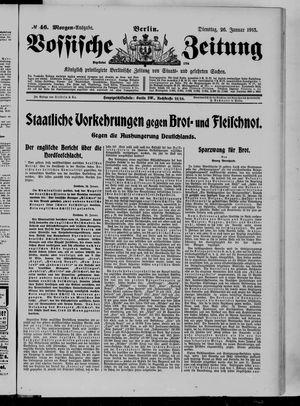 Vossische Zeitung vom 26.01.1915