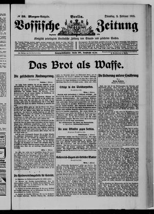 Vossische Zeitung vom 02.02.1915