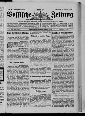 Vossische Zeitung vom 03.02.1915