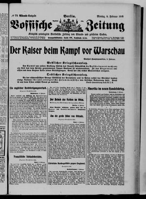 Vossische Zeitung vom 08.02.1915