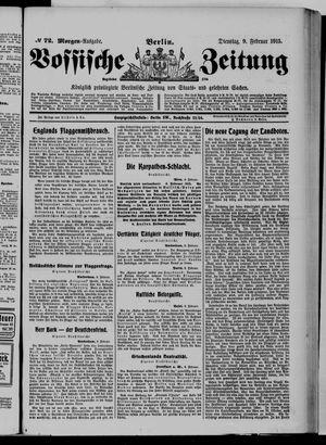 Vossische Zeitung vom 09.02.1915