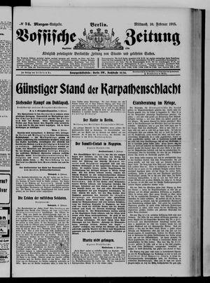 Vossische Zeitung vom 10.02.1915