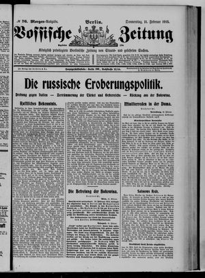 Vossische Zeitung vom 11.02.1915