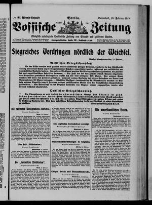 Vossische Zeitung vom 13.02.1915