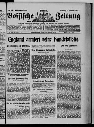Vossische Zeitung on Feb 14, 1915