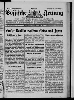 Vossische Zeitung vom 16.02.1915