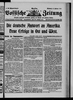 Vossische Zeitung vom 17.02.1915