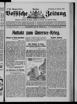 Vossische Zeitung vom 18.02.1915