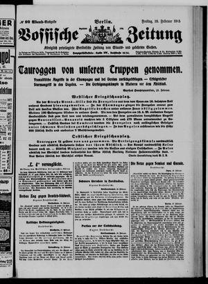 Vossische Zeitung vom 19.02.1915