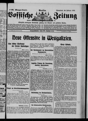 Vossische Zeitung vom 20.02.1915