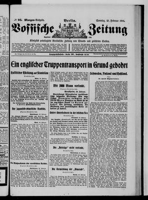 Vossische Zeitung vom 21.02.1915