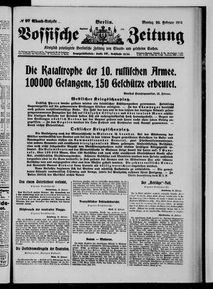 Vossische Zeitung vom 22.02.1915