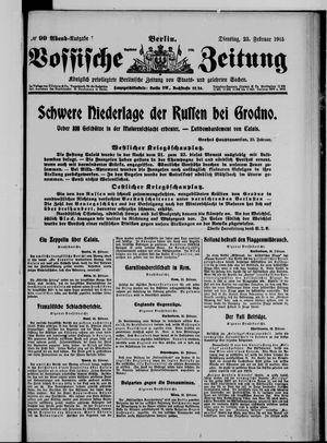 Vossische Zeitung vom 23.02.1915