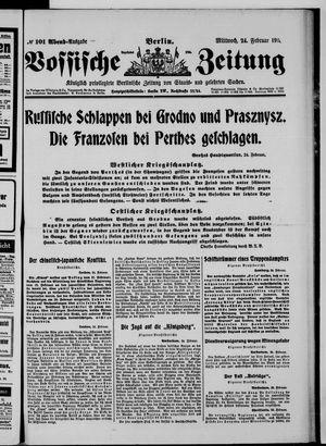Vossische Zeitung vom 24.02.1915