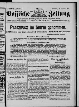 Vossische Zeitung vom 25.02.1915