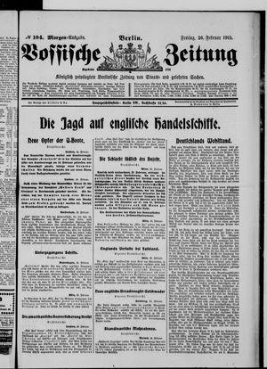 Vossische Zeitung vom 26.02.1915