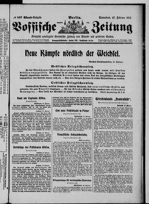 Vossische Zeitung vom 27.02.1915