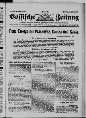 Vossische Zeitung vom 09.03.1915