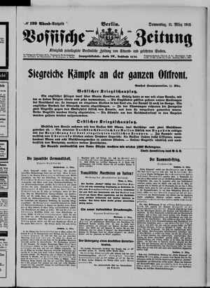 Vossische Zeitung on Mar 11, 1915