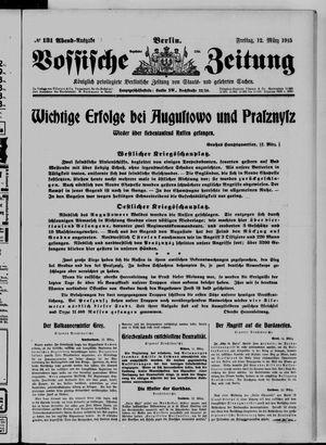 Vossische Zeitung vom 12.03.1915