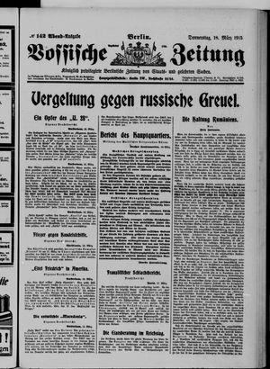Vossische Zeitung vom 18.03.1915