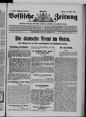 Vossische Zeitung on Mar 19, 1915
