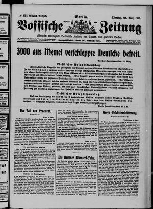 Vossische Zeitung vom 23.03.1915