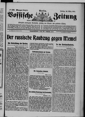 Vossische Zeitung vom 26.03.1915