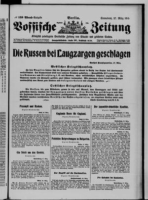 Vossische Zeitung vom 27.03.1915