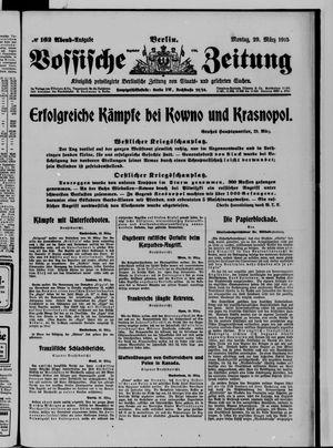 Vossische Zeitung vom 29.03.1915