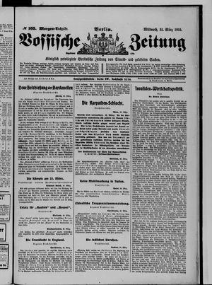 Vossische Zeitung vom 31.03.1915