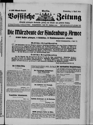 Vossische Zeitung vom 01.04.1915